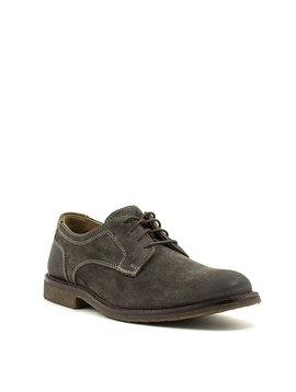 Men's Johnston & Murphy Copeland Plain Toe Shoe Grey Oiled Suede