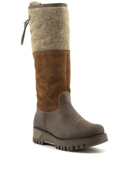 Bos & Co Ginger Prima Boot Expresso/Wood/Beige