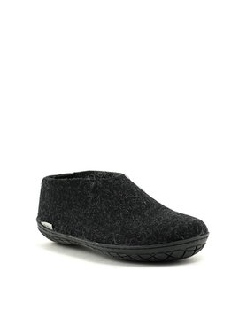 Glerups Shoe Black Rubber Sole Charcoal