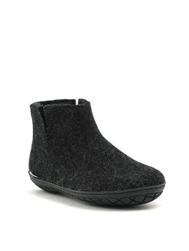Glerups Boot Black Rubber Sole Charcoal