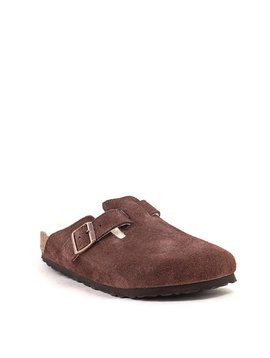 Birkenstock Boston Shearling Port Suede