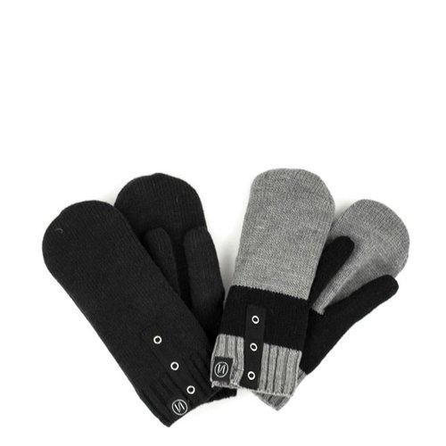 Schwiing Schwiing Letty Mittens Black and Grey One Size