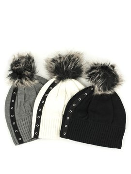Schwiing Schwiing Letty Beanie Toque Black, Grey, and Ivory One Size
