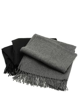 Naif S4 Scarf Black and Dark Grey