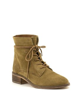 Steve Madden Roosy Tan Suede Lace-Up Boot