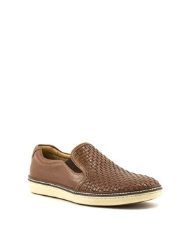 Men's Johnston & Murphy McGuffey Woven Slip-On Tan