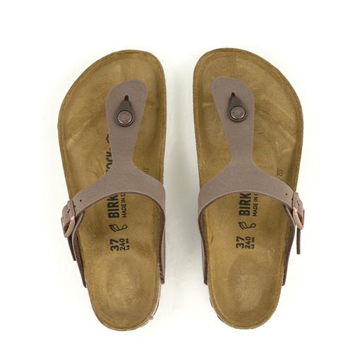 826d44a12a2 Birkenstock — Gizeh Birko-Flor Regular Width Mocha at Shoe La La