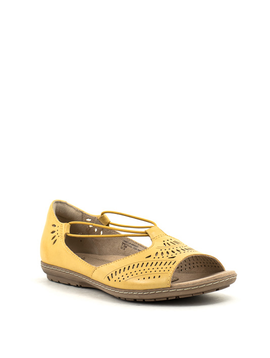 Earth Camellia Nauset Sandal Amber Yellow