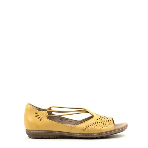 Earth Camellia Nauset Sandal Amber Yellow At Shoe La La