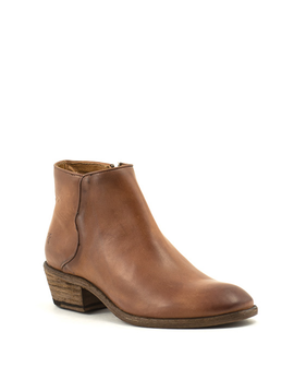 Frye Carson Piping Bootie Cognac