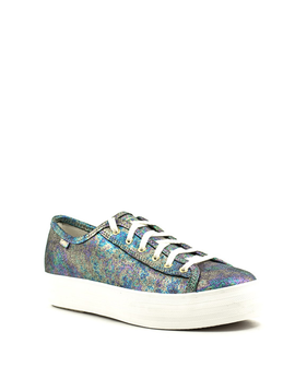Keds Triple Kick Oil Slick Leather Navy Multi