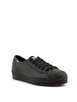 Keds Triple Kick Leather Sneaker Black Leather