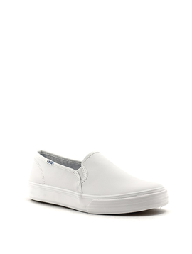 Keds Double Decker Leather Shoe White