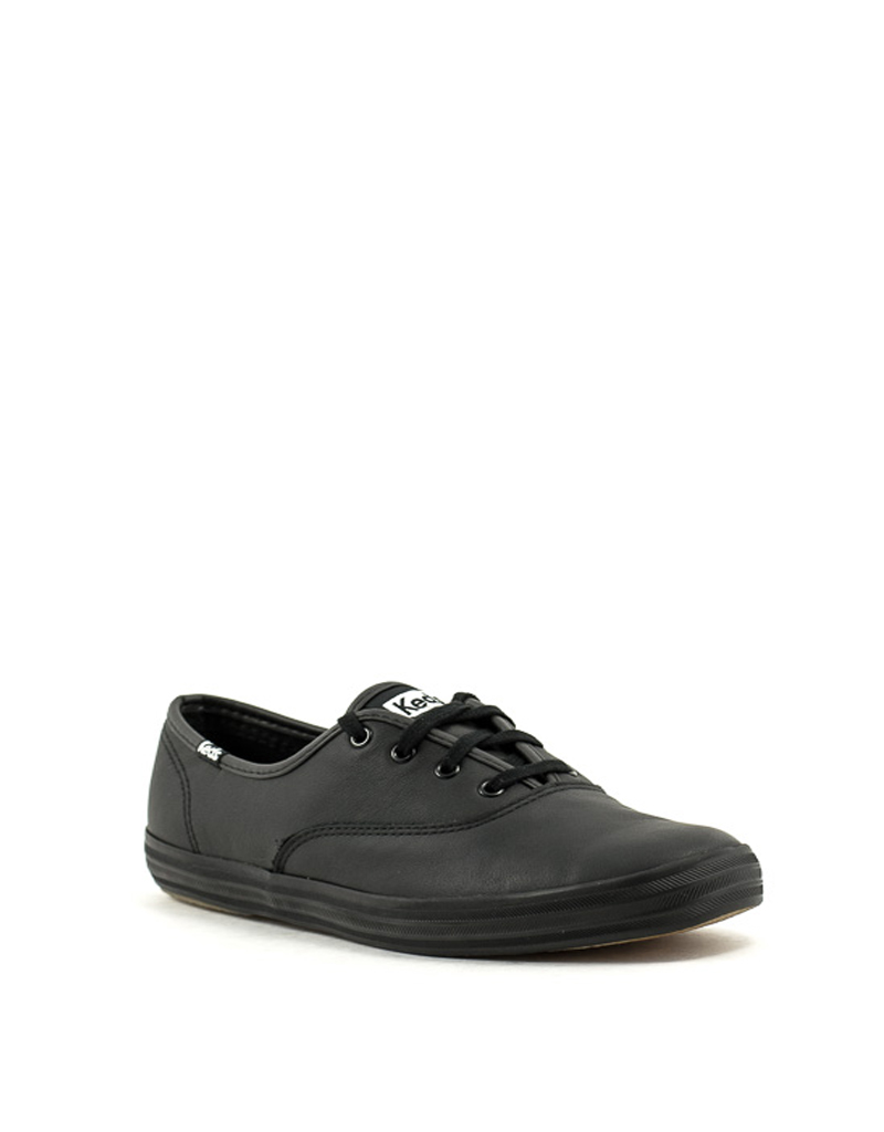 d5e660b78286b Keds — Champion Black Leather Sneakers at Shoe La La Nelson