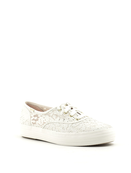 Keds Triple Paint Crochet Sneaker Cream