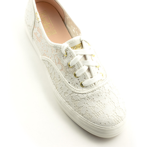 Keds Keds Triple Paint Crochet Sneaker Cream