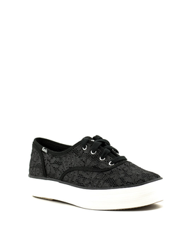 Keds Triple Painted Crochet Sneaker Black