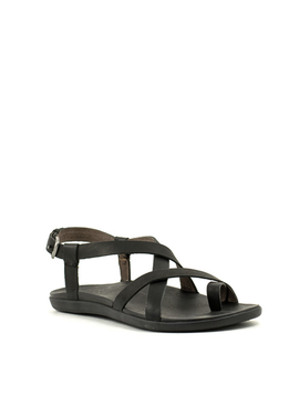 Olukai Upena Sandal Black Leather