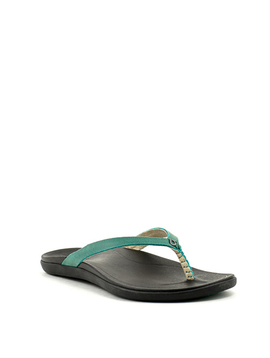 Olukai Ho'opio Leather Sandal Paradise/Black