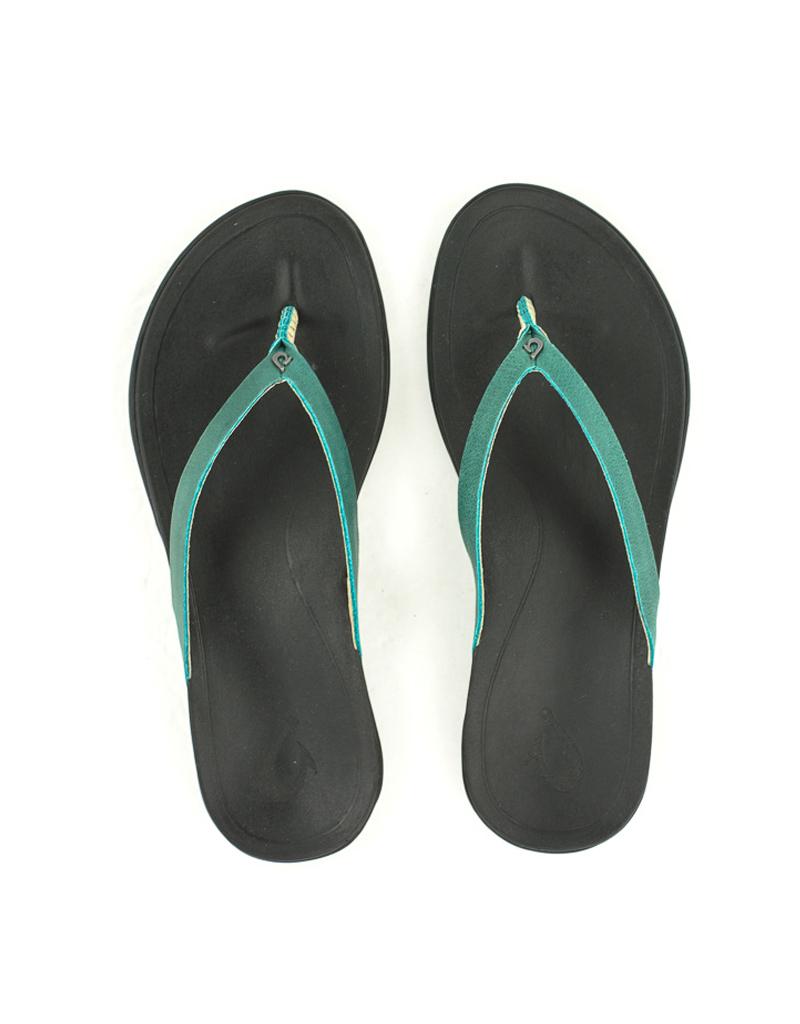 Olukai Olukai Ho'opio Leather Sandal Paradise/Black
