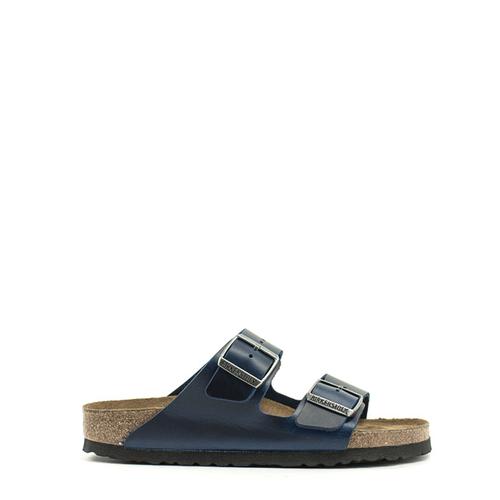 Birkenstock Birkenstock Arizona Waxy Leather Soft Footbed Narrow Width Blue