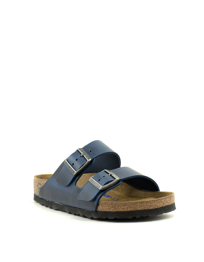3b3bff8f2 Birkenstock Birkenstock Arizona Soft Footbed Waxy Leather Regular Width Blue