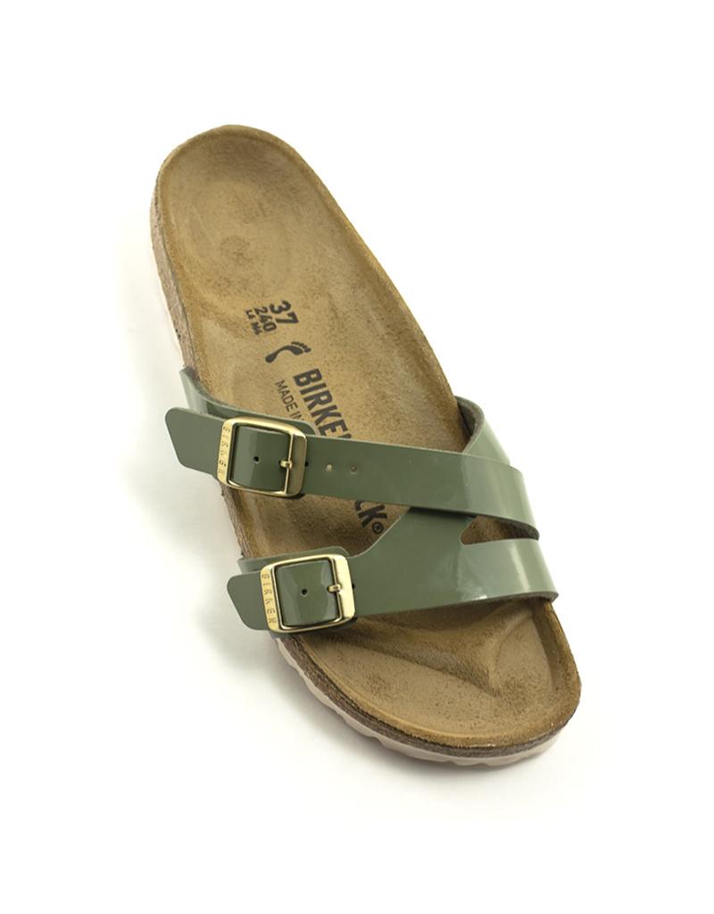 Birkenstock Birkenstock Yao Balance Sandal Birko Flor Patent Narrow Width Khaki