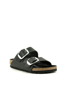 Birkenstock Arizona Big Buckle Waxy Leather Narrow Width Black
