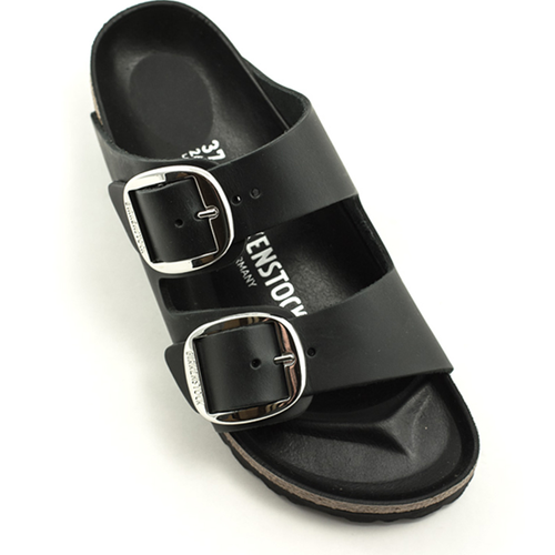 Birkenstock Birkenstock Arizona Big Buckle Waxy Leather Narrow Width Black