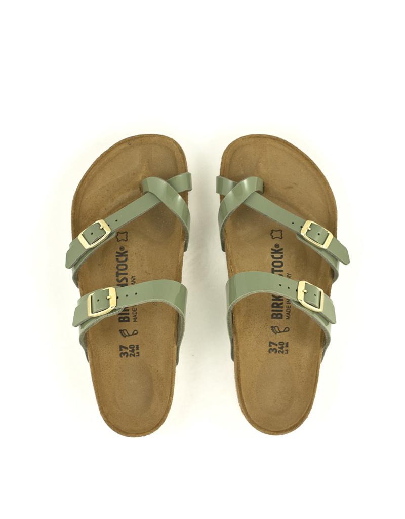 8b8291704b572 Birkenstock — Mayari Khaki Birko Flor Sandals at Shoe La La Nelson