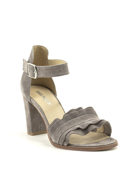 Brusque Mayfair Sandal Grey Suede