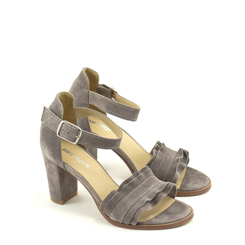 Brusque Brusque Mayfair Sandal Grey Suede