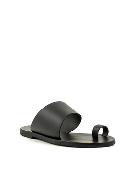 Sol Sana Malia Slide Black leather Sandal