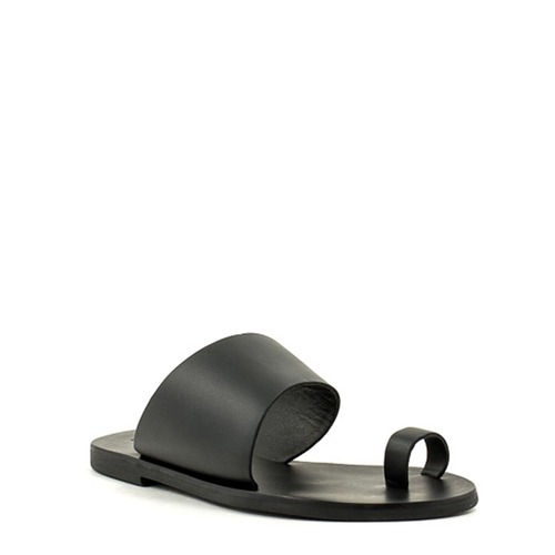 Sol Sana Sol Sana Malia Slide Black leather Sandal
