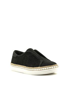 J/Slides Kayla Sneaker Black Nubuck