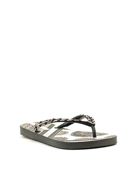 Ipanema 82660-20766 Beaded Flip Flop  Black