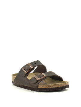 Birkenstock Arizona Waxy Leather Soft Footbed Narrow Width Habana