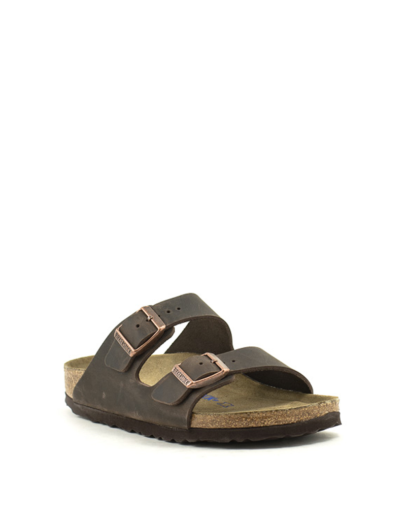 Birkenstock Birkenstock Arizona Waxy Leather Soft Footbed Narrow Width Habana