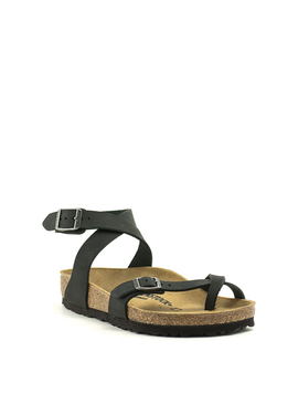 Birkenstock Yara Sandal Black Oiled Leather Regular Width