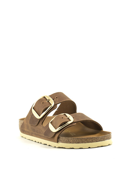 Birkenstock Arizona Big Buckle Oiled Leather Narrow Width Cognac