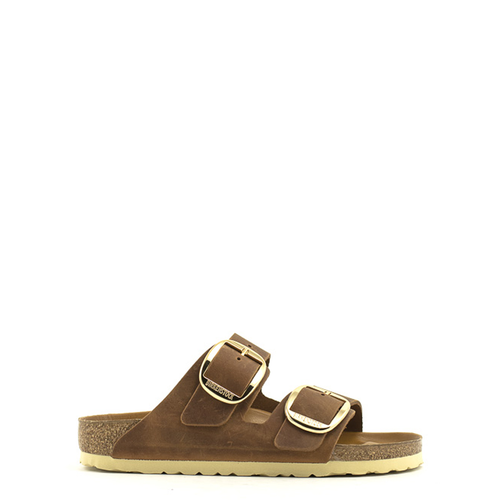 Birkenstock Birkenstock Arizona Big Buckle Oiled Leather Narrow Width Cognac