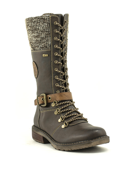 Relife 9717-14811B-40R Tall Lace-up Boot Dk Brown