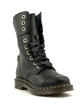 Dr. Martens Aimilita Aunt Sally Black Pebbled Leather