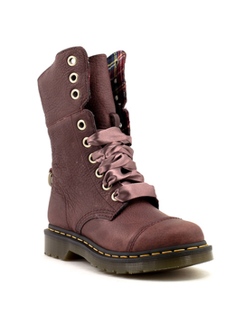 Dr. Martens Aimilita Cherry Red Grizzly Boot