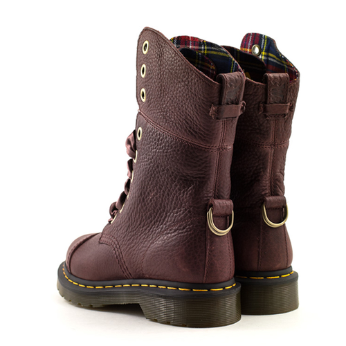 Doc Martens Dr. Martens Aimilita Cherry Red Grizzly Boot