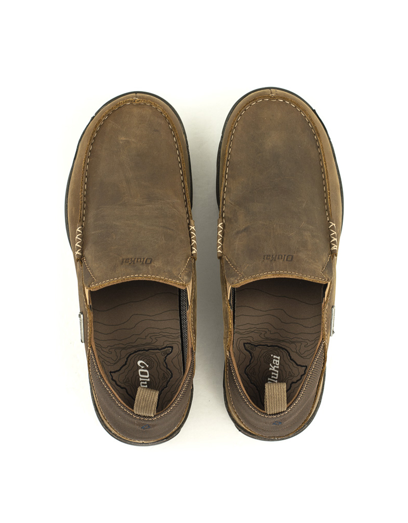 Olukai Men's Olukai Na'i WP Shoes Tan/Espresso