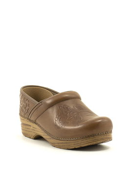 Dansko Embossed Pro Burnished Calf Tan