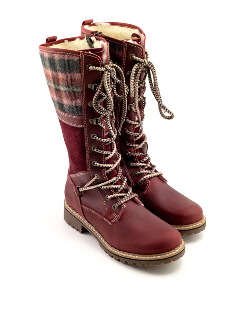 Bos & Co Bos & Co Holiday Boot Red/Sangria