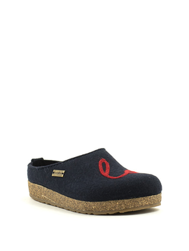 Haflinger Grizzly Lovely Slipper Navy