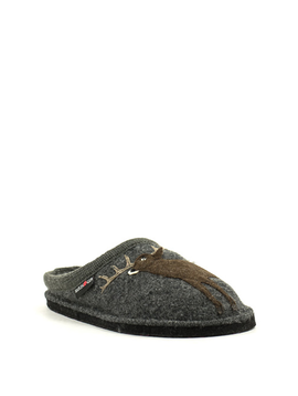 Haflinger Deer Slipper Grey